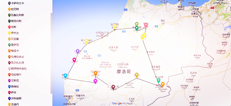 luxury trip map