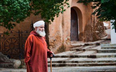 Homem sábio em Marrocos